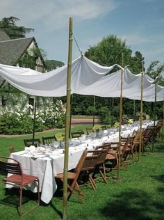 home made party tent - Google Search