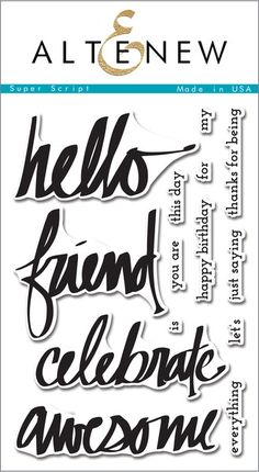 Brush script, calligraphy, and hand-written fonts are extremely trendy  in the paper crafting world, and these stamps are an easy way to  incorporate that artistic look into your projects