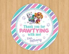 Paw Patrol Everest and Skye Paw Invitation by 21CreationsToo