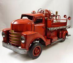 brandweerauto blik - Fire car tin