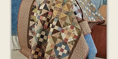 Use Whatever Scraps You have on Hand for a Lovely Quilt in Your Style! Scraps from reproduction prints are sensational in this twist on the traditional Monkey Wrench quilt design. Or, make it up in your own style of scraps for a wonderful variation. Select a wide range of values from the scraps you have …