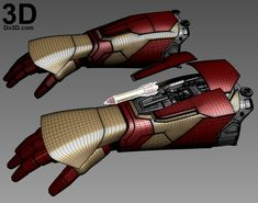 Printable Iron Man Mark XLII (Model: MK Gauntlet / Hand / Glove / Forearm with Missile Rocket Shooter Iron Man 3, Iron Man Hand, Hot Toys Iron Man, Iron Man Suit, Iron Man Armor, Armor Concept, Weapon Concept Art, Iron Man Avengers, Avengers Age