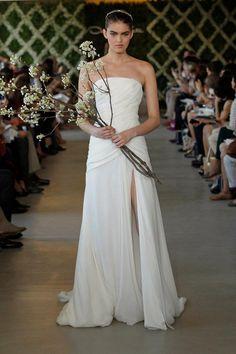 Spring 2013 Look 19. Oscar de la Renta gowns are sold at The Bridal Salon at Saks Jandel.