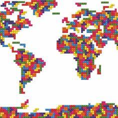 Fancy - Tetris Map of The World
