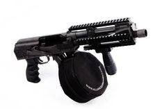 Saiga 12 shotgun with accelerator pistol conversion and drum. Ummmmmm Yes please!
