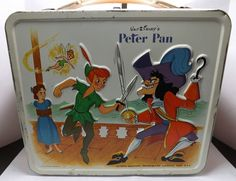 Peter Pan Vintage Lunch Box  (Disney, Antique Metal Lunchbox)