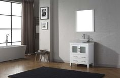 Virtu USA - KS-70030-S-WH-001 - Dior 30 in. Bathroom Vanity Set side top