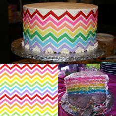 Rainbow Chevron Cake