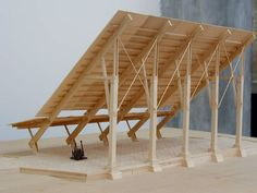 Holz 3 Peaceful Tips: Glass Roofing Room roofing ideas shed.Gray Roofing Shingles triangle roofing d Rural Studio, Wood Architecture, Tectonic Architecture, Pavilion Architecture, Timber Structure, Arch Model, Roof Design, Pergola Designs, House Ideas