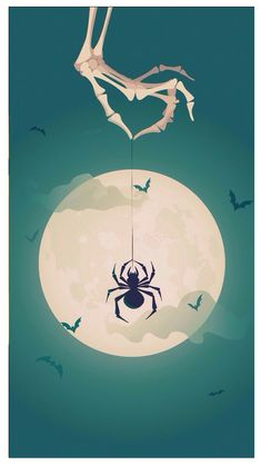 Moonlight spider - for Halloween