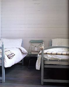 rustic planked walls
