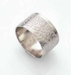Wedding Band Sterling Silver Ring Handmade by LulyJewelry on Etsy, $96.00