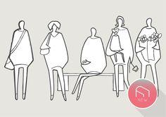 Architectural Sketchy People is part of Victorian Gothic architecture Products - Victorian Gothic architecture Products Architecture People, Architecture Graphics, Sketches Of People, Drawing People, Urban Design Diagram, Sketch Notes, People Illustration, Urban Sketching, Sketch Design