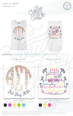 Alpha Sigma Tau | AST | Monogram Sorority Design | Birthday Cake Bid Day | South by Sea | Sorority Shirts | Sorority Tanks | Greek Shirts