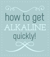 I've become quite interested in easy healthy ways to alkaline my body, to have  my body be less acidic.