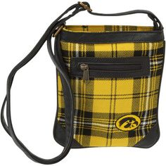 The Honour Society Iowa Hawkeyes Women's Ticket Bag - Black/Gold