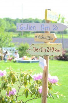 Lustige Idee für den Garten - Lieblingsplätze beschildern *** Funny Garden DIY Idea Favourite Place signpost