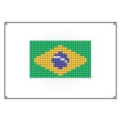 Flag of Brazil Pixel Art | brazil quilt | Pinterest | Flags, Crochet and Beads