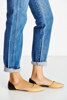 Pin for Later: 23 Commute-Friendly Shoes to Wear to Work in the Summer  Jeffrey Campbell Leather D'Orsay Flats ($50, originally $90)