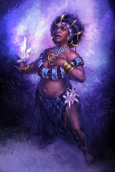 Erzulie- Haitian myth: a family of female spirits that all represent women and the different aspects of their daily lives.