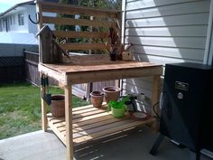 Potting Bench (made from old pallets)
