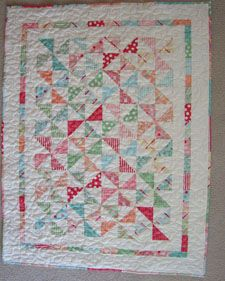 Free Pattern - Wee Ones Baby Quilt by Kelly Guy -- uses 1 layer cake