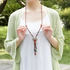 Ethnic-style-Jewelry-Tibetan-silver-fish-ceramics-Semi-precious-stones-Long-necklace-Cotton-clothes-Sweater-chain.jpg (800×800)