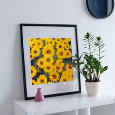 Sunflowers, Oil Painting Print, Wall Art Print of Original Oil Painting, Original contemporary art, wall decor Painting Prints, Wall Art Prints, Sunflower Oil, Sunflowers, Printable Wall Art, Contemporary Art, Wall Decor, Unique Jewelry, Frame