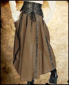 Steampunk leather corset skirt