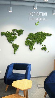 verde musgo sala Unique designs with real moss Moss Wall Art, Moss Art, House Plants Decor, Plant Decor, Moss Graffiti, Green Wall Art, Walled Garden, Forest House, Nature Decor