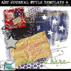 Art Journal Style Template 4 -single template