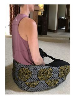 Seat Sling Back Support Yoga Meditation Seat Seat to Go TravelFestival Retreat Hiking Concert Ground Chair Graphic Print X-LARGE Meditation Chair, Easy Meditation, Meditation Cushion, Meditation Space, Pilates Reformer, Pilates Workout, Pilates Video, Pilates Studio, Yoga Props