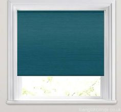 Luxury Rich Teal Faux Silk Textured Blackout Roller Blinds