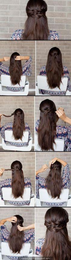 Y enamórate de esta media colita de lo más fácil. | 17 Peinados sencillos para dominar tu cabello