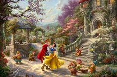 Snow White Dancing in the Sunlight | The Thomas Kinkade Company