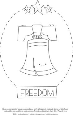 Fourth of July Embroidery Pattern