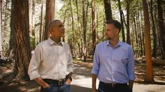 During a visit to Yosemite, the president urges Americans to help protect parks for future generations and highlights his efforts on land, water preservation.