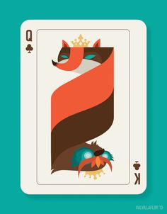 QUEEN FOX x KING OWL by Val Villaflor, via Behance