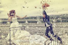 Energiczna sesja ślubna