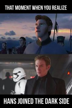 Star Wars and Frozen – Star Wars Funny – Funny Star Wars Meme – – Star Wars and Frozen The post Star Wars and Frozen appeared first on Gag Dad. Source by Star_Wars_Meme Disney Memes, Funny Disney Jokes, Disney Princess Memes, Disney Pics, Star Wars Witze, Star Wars Jokes, Funny Star Wars, 9gag Funny, Haha Funny
