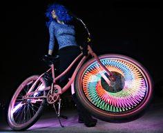 multicolor bike lights for burning man.  darkwad no more! http://www.monkeylectric.com/burning-man/