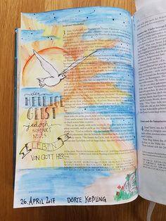 Bible Art Journaling beim grünen Wicht: Gemeinschaftsbibel Reisebericht