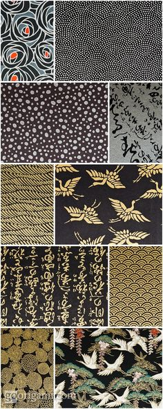 I have had the privilege of working with all of these prints before! I miss the Japanese Paper Place on Queen st in Toronto! - A Interior Design Japanese Textiles, Japanese Patterns, Japanese Fabric, Japanese Prints, Japanese Art, Japanese Origami, Japanese Painting, Motifs Textiles, Textile Patterns