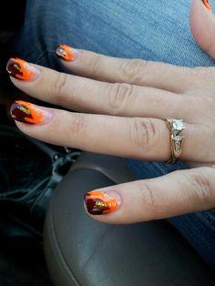 My 2012 Thanksgiving nail art check out www.MyNailPolishObsession.com for more nail art ideas.