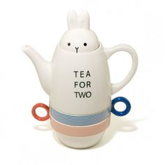 Tea For Two Rabbit Pot with Cups