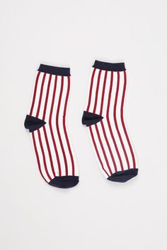 Stripe Ankle Socks Red - THE WHITEPEPPER http://www.thewhitepepper.com/collections/new-in/products/stripe-ankle-socks-red