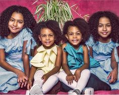 The McClure twins with their twin friends