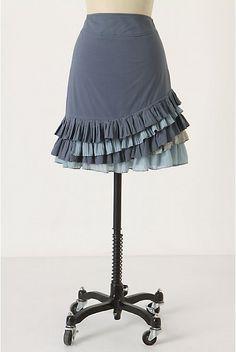 Ruffles and Roses: Summer of Skirts - Anthropologie Ruffled Skirt Tutorial  --  For me a little longer...but that's managable.