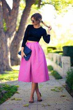 Pleats, Oh Please Royal Blue Midi Skirt | Royal blue skirts, The o ...