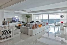 Construindo Minha Casa Clean: Salas de Estar e de TV Modernas!!!